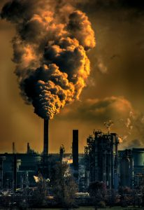 A factory pumping out air pollution